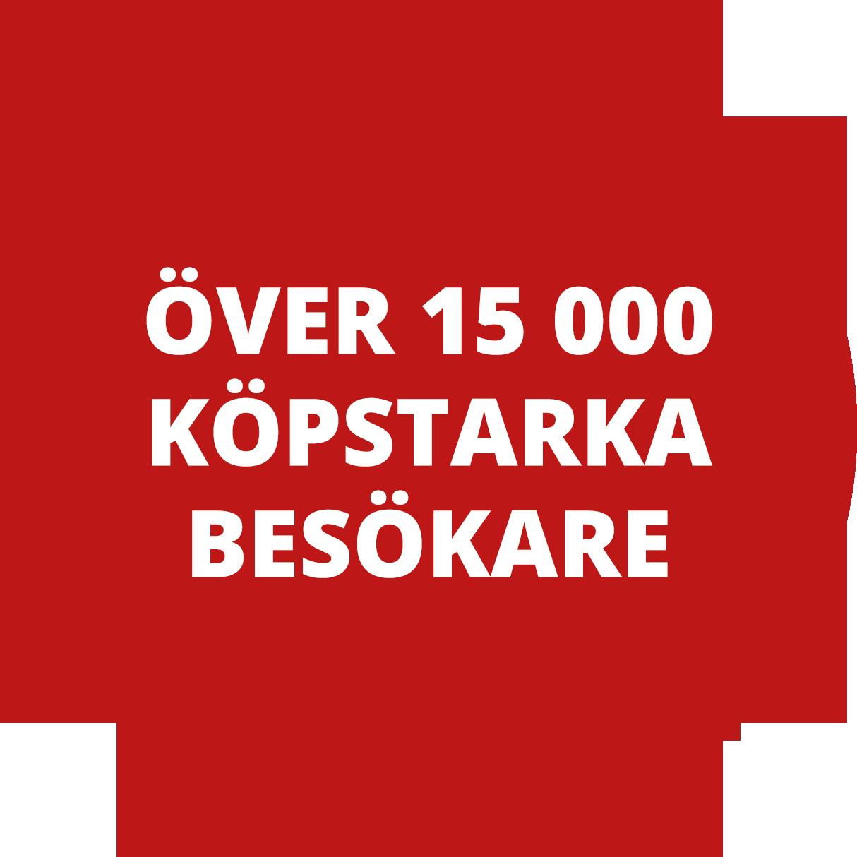 Över 15000 köpstarka besökare