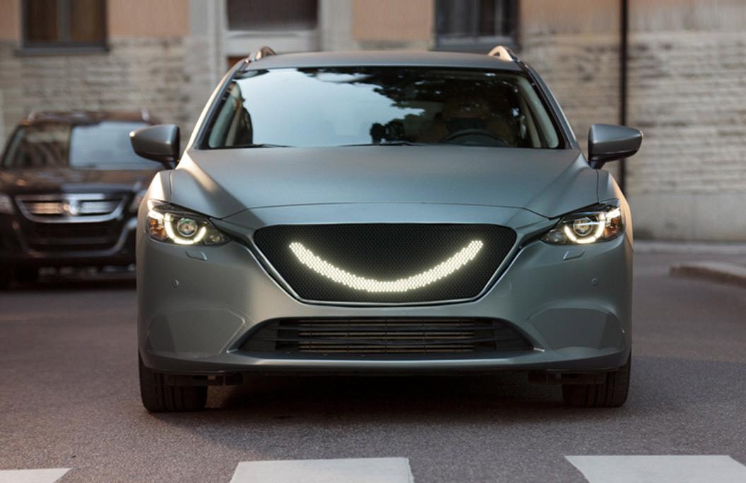 Semcon presenterar sitt koncept Smiling Car på Automässan i januari.